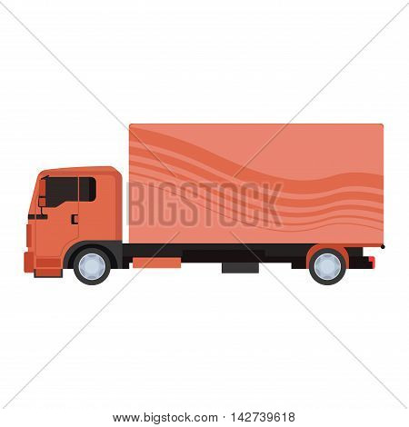 Cargo truck vector illustration isolated on white background. Cargo truck vector icon illustration. Delivery truck silhouette