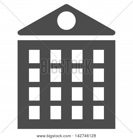 Multi-Storey House icon. Vector style is flat iconic symbol with rounded angles, gray color, white background.