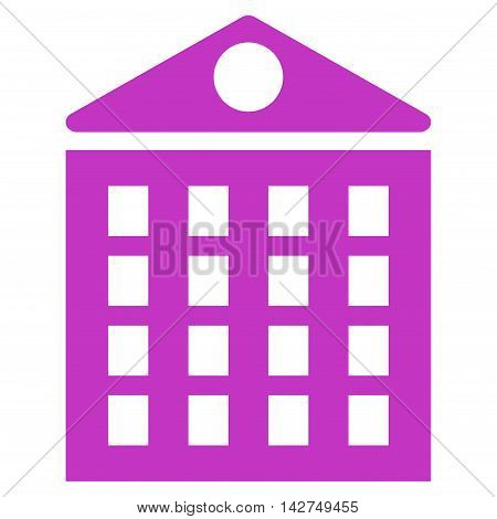 Multi-Storey House icon. Vector style is flat iconic symbol with rounded angles, violet color, white background.