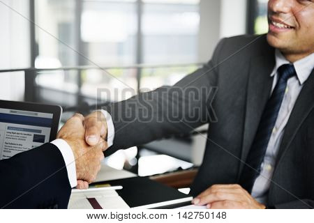 Business People Corporate Connection Greeting Handshake Concept