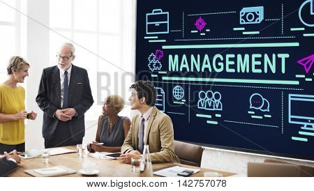 Management Coaching Controlling Leadership Concept
