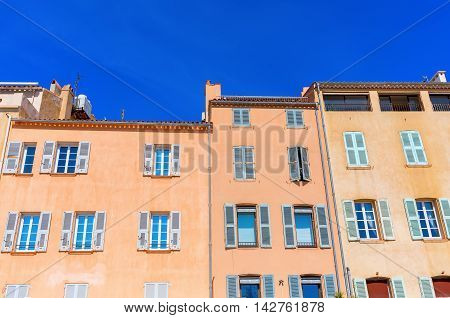 Pastel-colored Houses In Saint Tropez