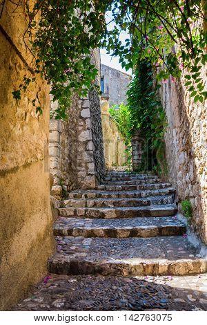 Alley In Saint-paul-de-vence, Provence, France