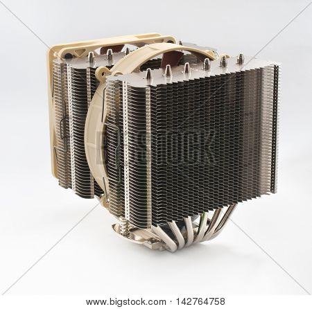 Cooler computer fan equipment. Technology design.