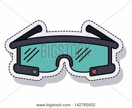 smartglasses wearable isolated icon vector illustration design