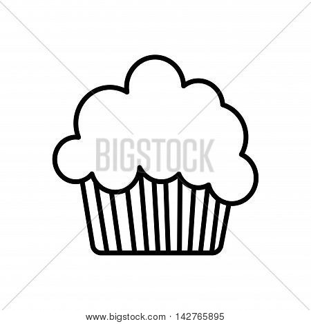 cupcake muffin bakery icon. Isolated and flat illustration.