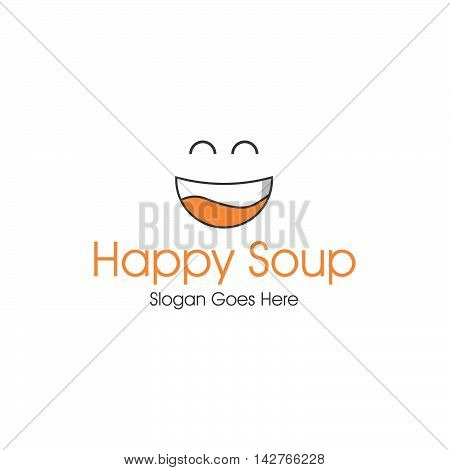 Happy Soup Logo Concept For Restaurant and business company