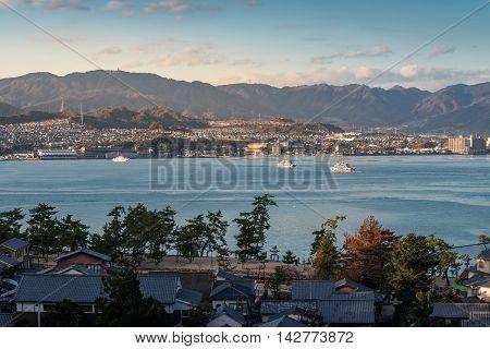 Hiroshima City And Hiroshima Bay View From Miyajima Island, Japan