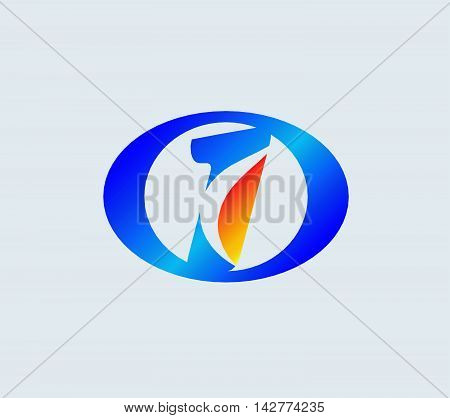 Number one 1 logo icon template abstract