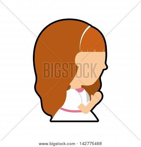 pray girl kid religion catholicism icon. Isolated and flat illustration