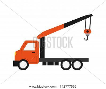 flat design Tow truck icon vector illustration
