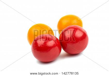 chewing gum gelatin on a white background