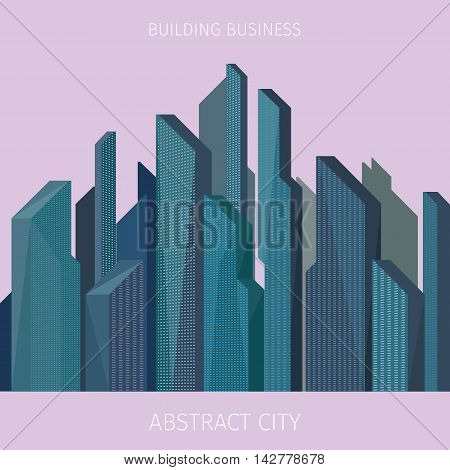 business background with high modern building forming a texture
