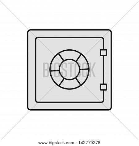 strongbox money financial payment icon. Isolated and flat illustration