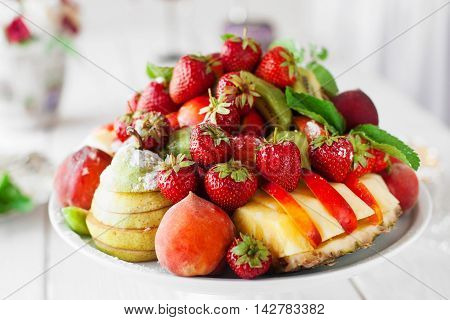 Fruit Food Decoration Celebration Catering Restaurant Organic Serving Composition Beauty Concept