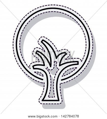 tree plant ecology isolated cion vector illustration design