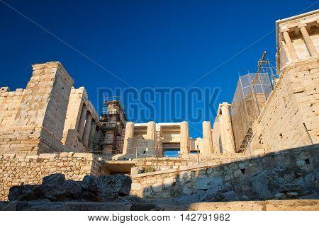 The Propylaea. Athens Greece.ln the citi centr.