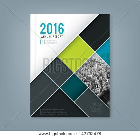 Abstract geometric square shape design background template for business annual report book cover brochure flyer poster