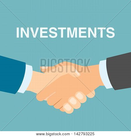 Good investment handshake. Businessmen shaking hands in agreement about future business plan and capital. Successful business strategy.