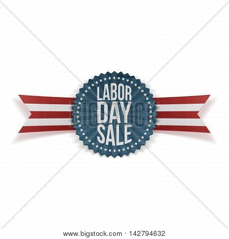 Labor Day Sale textile Banner. Vector Illustration