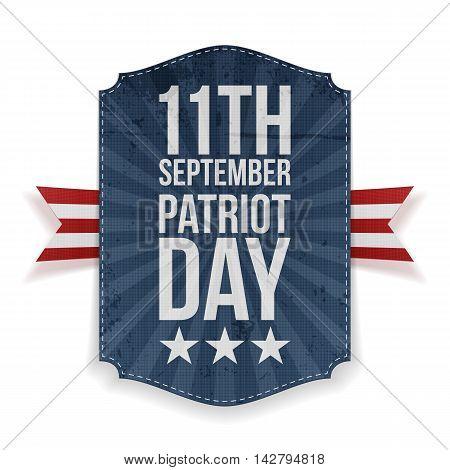 September 11th Patriot Day paper Banner. Vector Illustration