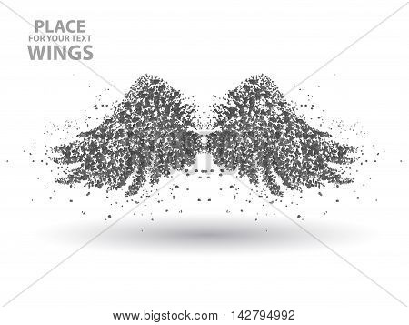 Particles of Wings, full of enterprising across significance vector illustration. vector illustration