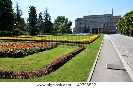 BELGRADE, SERBIA - AUGUST 15, 2016: Famous Old Palace in the city Belgrade, City Assembly