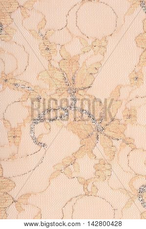 Beige Lace With Embroidery