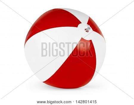 Beach ball isolated on pure white background