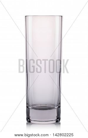 Empty cocktail tall glass on a white background.