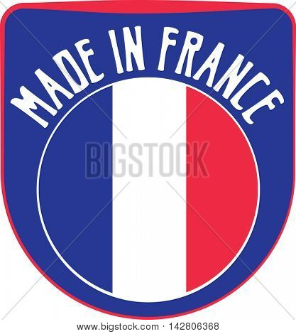 Made in France badge sign. Vector illustration