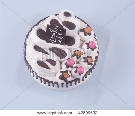 Cake Or Fathers Day Cake On A Background.