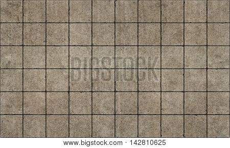 Old rough dirty concrerte tiles seamless pattern