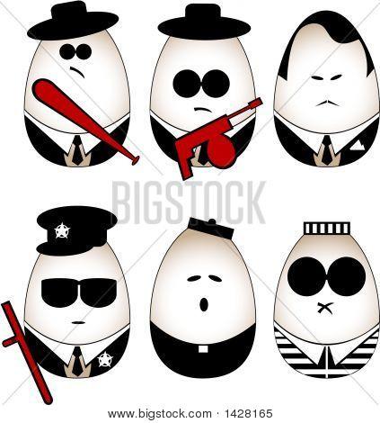 Vector Eggs Figure