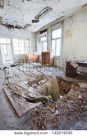 Abandoned old building interior