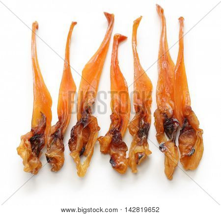 himegai, japanese food delicacy, dried marine product of trough shell