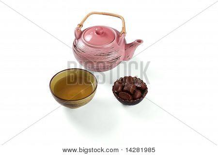 Composition with tea set