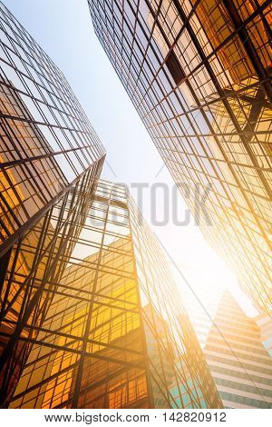 Business skyscraper to the sky