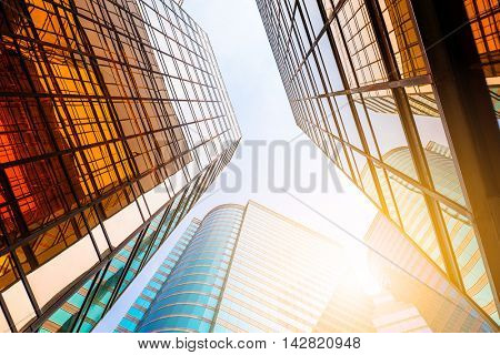 Modern office building to the sky