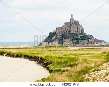 Mont Saint-Michel - tidal island town and abbey. France
