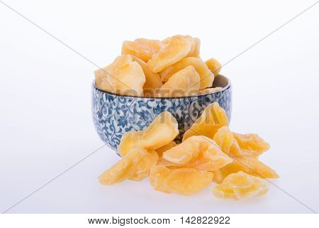 Apple Dry In Bowl Or Dried Apple Slices.
