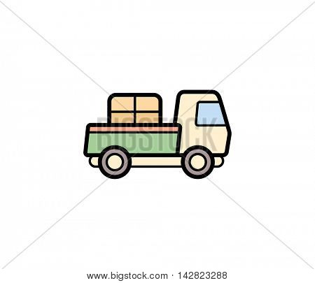 Delivery transport icon. Vector illustration