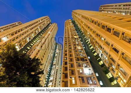 Low angle view apartment building