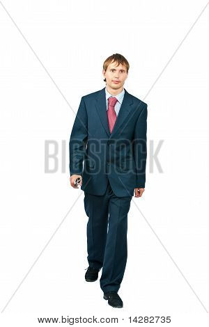 The businessman on a white background
