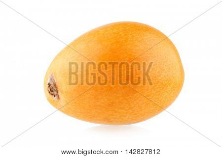 Ripe loquat (Eriobotrya japonica) isolated on white background