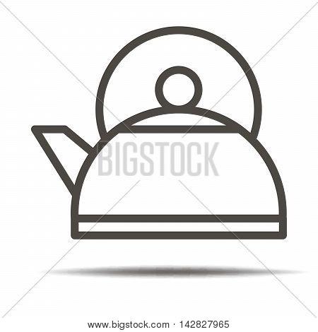 Kettle icon. Kettle symbol. Kettle sign. Kettle label.