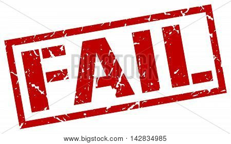 fail stamp. red grunge square isolated sign