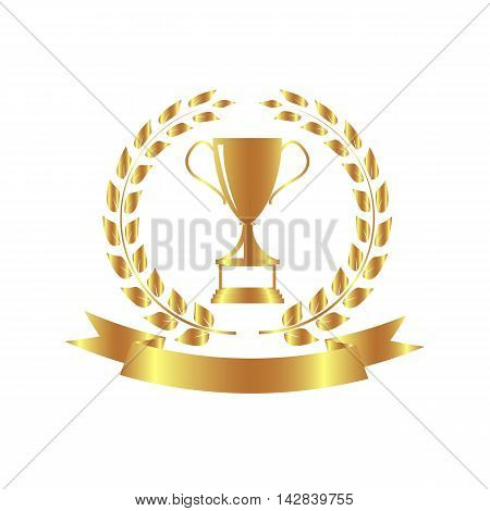 bronze trophy and awards icons illustration vector