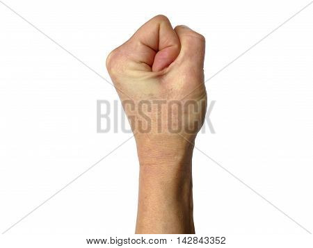 Tight Balled Fist, Decrease In Blood Flow Resulting In White Skin, Depicting Anger Or Strength