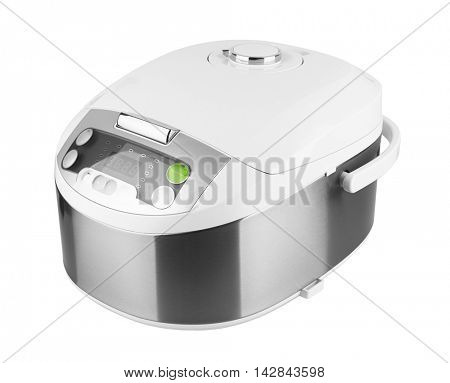 Multicooker & pressure cooker isolated on white background